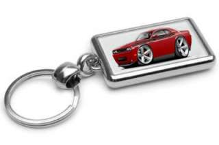 2009 12 Dodge Challenger RT Muscle Car toon Keychain NEW