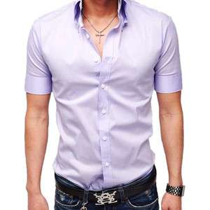 Men's Casual Slim Dress Button Shirts Summer Wear 3Colors Best