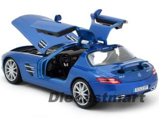 MAISTO 118 MERCEDES BENZ SLS AMG NEW DIECAST MODEL CAR METALLIC BLUE