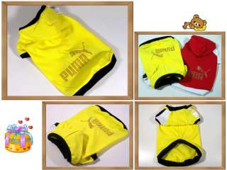 Small dog clothing,puma hot fix costume jersey coat,C32