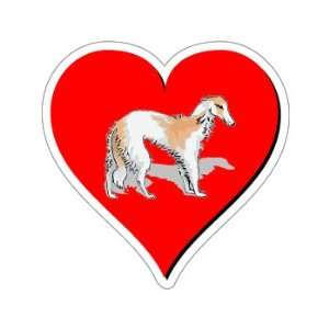 Borzoi Love   Window Bumper Sticker Automotive