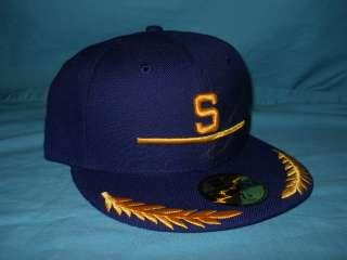 SEATTLE PILOTS BLUE GREEN BRIM WOOL NEW ERA HAT 7 1/8