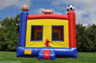 Inflatable Sports Theme Bounce House Moonwalk Bouncer