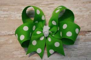 BOUTIQUE 3 POLKADOT TODDLER BOW~30 COLOR CHOICES~CUTE