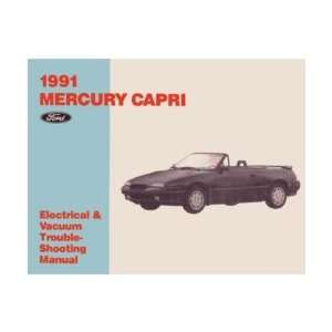 1991 MERCURY CAPRI Electrical Vacuum Manual Book Automotive