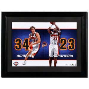 Jason Richardson and Mike Dunleavy Golden State Warriors Unsigned Dual