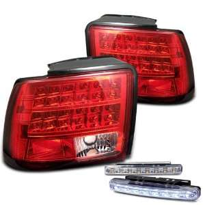 Eautolights 99 04 Ford Mustang LED Tail Lights Lamps + LED