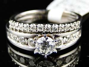 GOLD DIAMOND ROUND CUT ENGAGEMENT WEDDING RING BAND BRIDAL SET