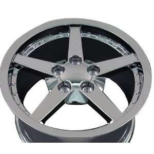 C6 Deep Dish Wheel with Rivets Fits Corvette   Chrome 17x9