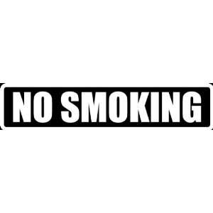 (Att27) 8 White Vinyl Decal No Smoking Funny Saying Die