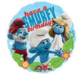 18 SMURF Smurfette Happy Birthday Party Mylar Balloon