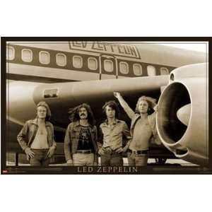 (22x34) Led Zeppelin (Airplane) Music Poster Print