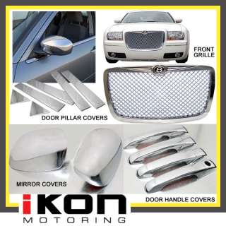 CHRYSLER 300C 300C CHROME MESH GRILLE DOOR HANDLE COVER MIRROR COVER