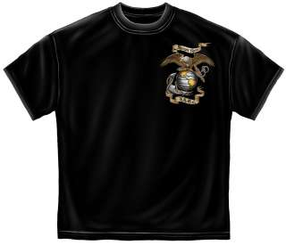 Cool USMC Semper Fi T Shirt eagle Marine Corps army military Tee