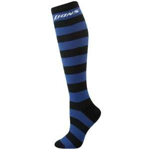 NFL Detroit Lions Ladies Royal Blue Silver Striped Rugby