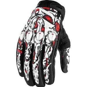 Mens Textile Sportsbike Racing Motorcycle Gloves   Red / 2X Large