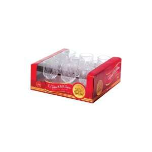 Large Crystal Glass Oil Cup Holders #14 / 9 Pack Burning Time 3 Hours