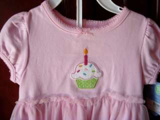 Carters 2pc Toddlers Birthday GIRL DRESS Cupcake Pink