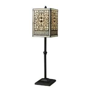 Legacies Collection 1 Light 27 Adamson Table Lamp in Tiffany Bronze w