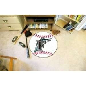 MLB Florida Marlins Baseball Shaped Door Mat Rug Sports