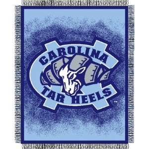 College Triple Woven Jacquard Throw   North Carolina Beauty