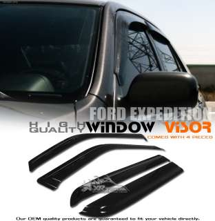 97 10 FORD EXPEDITION WINDOW VENT VISOR RAIN GUARD 4PC