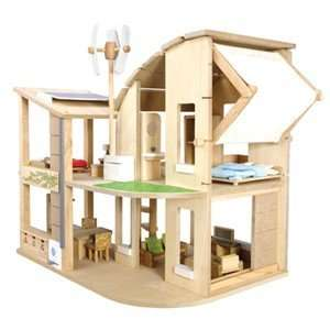 Eco friendly Green Dollhouse with Furniture by Plan Toys Toys & Games