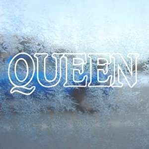 QUEEN ROCK BAND White Decal Car Laptop Window Vinyl White
