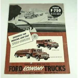 1953 53 FORD TRUCK BROCHURE F750 Series