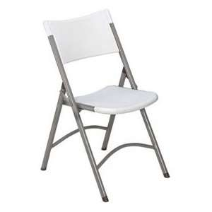 Blow Molded Resin Folding Chair   Speckled Gray Plastic