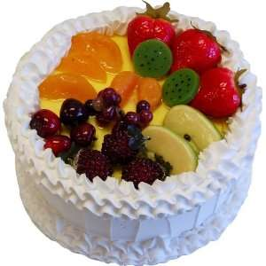 9 Fruit Cake White Fake Food