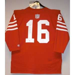Joe Montana Autographed Uniform   THROWBACK wool Sports