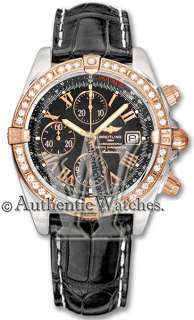 AUTHNENTIC BREITLING CHRONOMAT EVOLUTION ROSE GOLD & DIAMOND WATCH
