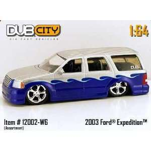 Dub City 164 Scale 2003 Silver And Blue Ford Expedition Die Cast Car