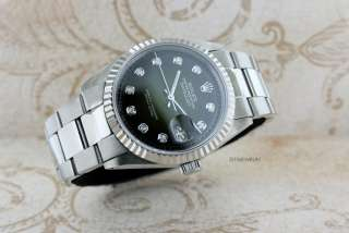 DATEJUST 18K/STAINLESS STEEL VIGNETTE GREEN DIAMOND DIAL WATCH