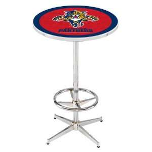 36 Florida Panthers Counter Height Pub Table   Chrome