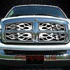 Dodge Ram 06 08 Vertical Billet Chrome Style Grille Grill Insert