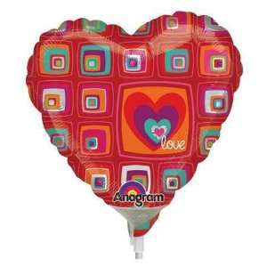 Love Balloons   Funky Squares Heart Love Mini Toys