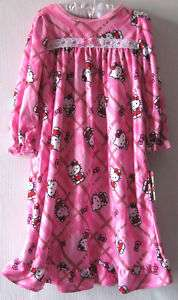 Hello Kitty Nightgown Girls size 2T 3T Winter Nightgown