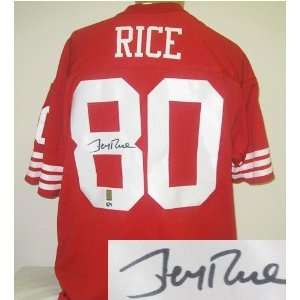 Jerry Rice Autographed Jersey   Authentic Sports