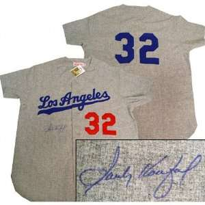Sandy Koufax Signed Autographed Away Jersey Sports