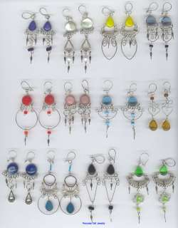 100 PAIRS EARRINGS MURANO GLASS PERUVIAN JEWELRY LOT