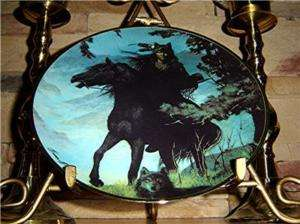Hermon Adams SPIRIT OF THE NIGHT American Indian FRANKLIN MINT Plate