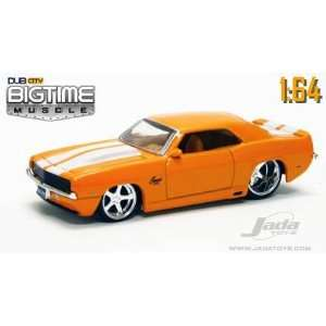Time Muscle Orange 1969 Chevy Camaro 164 Die Cast Car Toys & Games