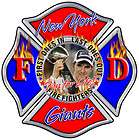 New York Giants Fire Fighter sticker, Decal IAFF