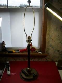 Vintage Art Deco Machine Age Metal Desk,Table Lamp