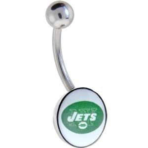 Licensed National Football League Logo Belly Ring   New York Jets