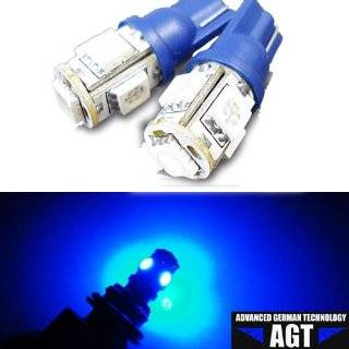 AGT Brand 4x 194 168 5 SMD Blue High Power LED Car Lights Bulb