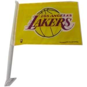 NBA LOS ANGELES LAKERS TEAM LOGO CAR FLAG