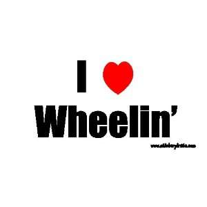 I Love Wheelin Offroad Bumper Sticker / Decal Automotive